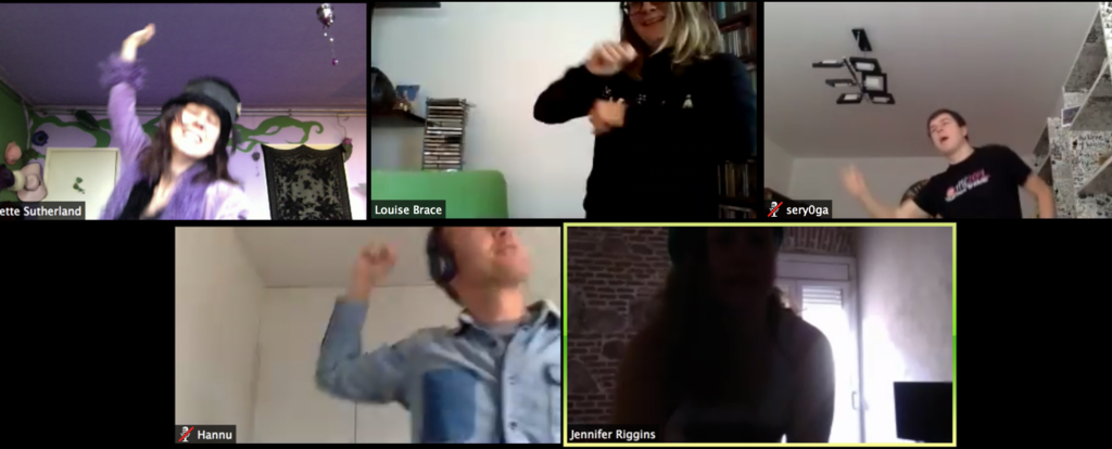 Happy Melly team virtual dance party